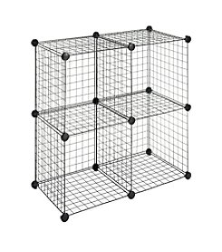 Whitmor® Set of 4 Black Wire Storage Cubes