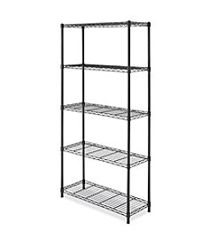 Whitmor® 5-Tier Black Supreme Shelving