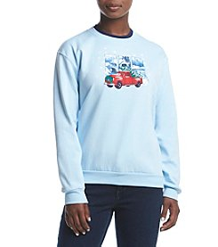 Morning Sun® Petites' Country Road Fleece Sweatshirt