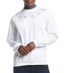 Morning Sun Petites' Snow Shine Fleece Sweatshirt