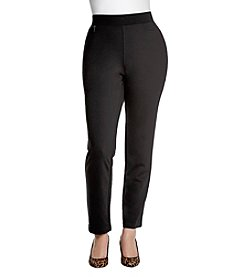 Rafaella® Plus Size Zipper Accents Slim Pants