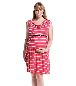 Three Seasons Maternity™ Plus Size Sleeveless Stripe Knit Dress