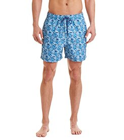 Nautica® Men's Quick-Dry Bleu Floral Swim Trunks