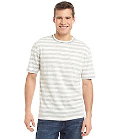 Paradise Collection® Men's End On End Reverse Stripe Short Sleeve Shirt