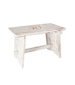 Cathy's Concepts Personalized  Rustic Wooden Guestbook Bench