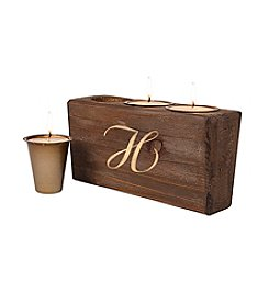 Cathy's Concepts Personalized Monogram Rustic Sugar Mold Unity Candle
