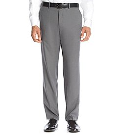 Kenneth Cole Reaction Stretch Straight Fit Flat Front Gabardine Dress Pants