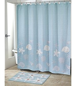 Avanti® Sequin Shell Shower Curtain or Bath Rug