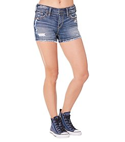Silver Jeans Co. Suki Mid Rise Destructed Shorts
