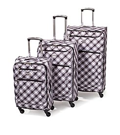 Leisure Vector Black and White Weave Luggage Collection