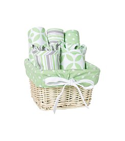 Trend Lab Lauren 7-pc. Feeding Basket Gift Set