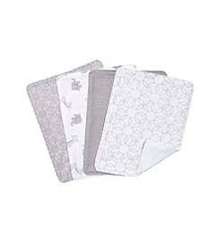 Trend Lab Grey and White Circles 4-pk. Burp Cloth Set