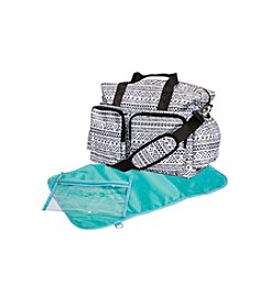 Trend Lab Black and White Aztec Deluxe Duffle Diaper Bag