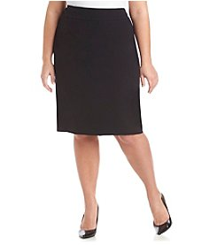 Nine West® Plus Size Solid Basic Skirt