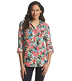 Notations® Floral Print Blouse