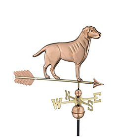 Good Directions® Polished Copper Labrador Retriever Weathervane with Arrow