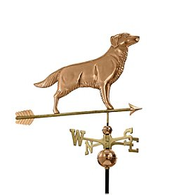 Good Directions® Polished Copper Golden Retriever Weathervane with Arrow