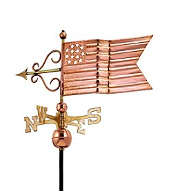 Good Directions® Polished Copper American Flag Weathervane