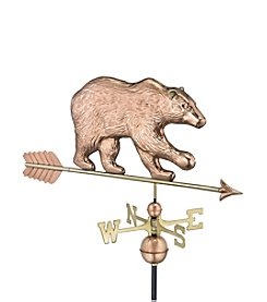 Good Directions® Polished Copper Bear Weathervane with Arrow