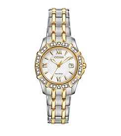 Citizen® Women's 26mm Eco-Drive Two-Tone Diamond Watch
