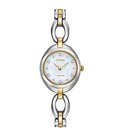 Citizen® Women's 23mm Eco-Drive Two-Tone Bracelet Watch