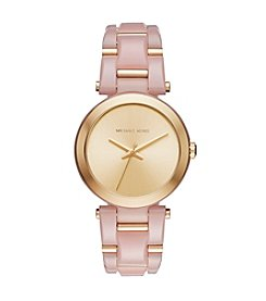 Michael Kors® Women's Goldtone Blush Acetate Delray Watch