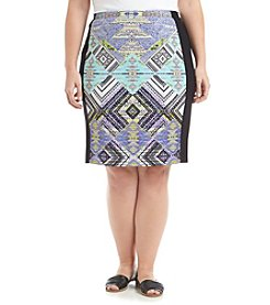 Rafaella® Plus Size Printed Pencil Skirt
