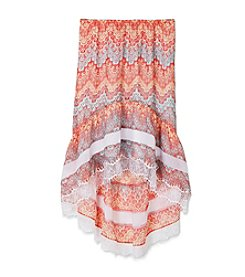 Amy Byer Girls' 7-16 Printed High-Low Skirt