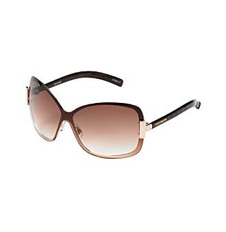 Steve Madden Large Tortoise Shield Sunglasses