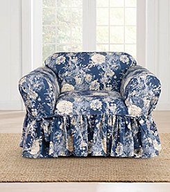 Sure Fit® Waverly Ballad Bouquet Chair Slipcover