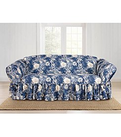 Sure Fit® Waverly Ballad Bouquet Loveseat or Sofa Slipcover