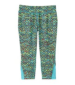 Mambo® Girls' 7-16 Printed Running Crop Pants
