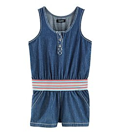 Squeeze® Girls' 7-16 Chambray Romper With Detailed Band