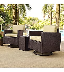 Crosley Furniture Palm Harbor 3-pc. Outdoor Wicker Conversation Set