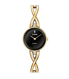 Citizen® Women's Eco-Drive Gold Tone Silhouette Bangle Watch