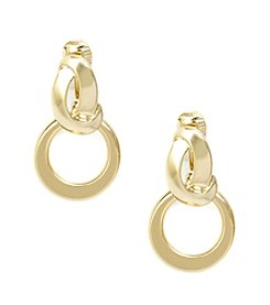 Anne Klein® Goldtone Twisted Clip Earrings