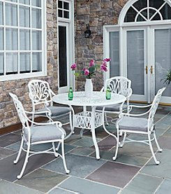 Home Styles® Floral Blossom White 5-pc. Straight Legged Dining Set