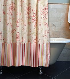 Greenland Home® Coral Red Shower Curtain