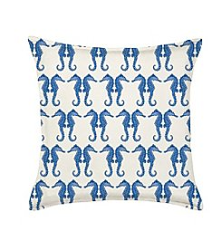 Greendale Home Fashions Seahorse Repeat Decorative Pillow