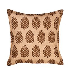 Greendale Home Fashions Pinecone Burlap Decorative Pillow