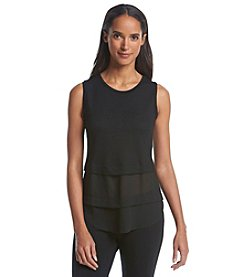 MICHAEL Michael Kors® Sleeveless Woven Mix Top