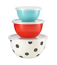 kate spade new york® All In Good Taste Set Of Three Serve And Store Bowls