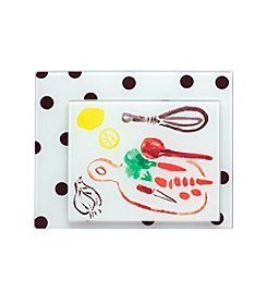 kate spade new york® All In Good Taste Glass Cutting Board Set