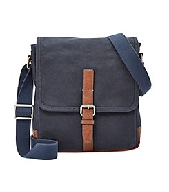 Fossil® Men's Davis Small Canvas Messenger Bag