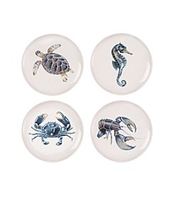 Fitz and Floyd® Cape Coral Set of 4 Assorted Accent Plates