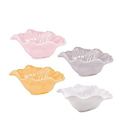 Fitz and Floyd® Savannah Home Set of 4 Assorted Flower Bowls