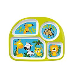 Living Quarters Melamine Zoo Animals Sectioned Plate