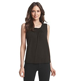Kasper® Sleeveless Pintuck Top