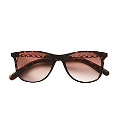 Relativity® Tortoise Retro Square Sunglasses