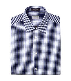 John Bartlett Statements Men's Slim Fit Stretch Gingham Dress Shirt